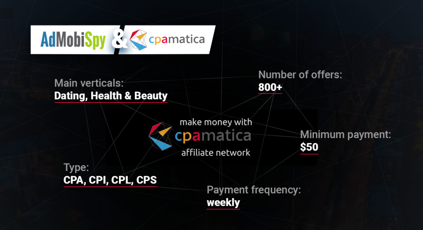 Best affiliate programs: CPAmatica partner network overview
