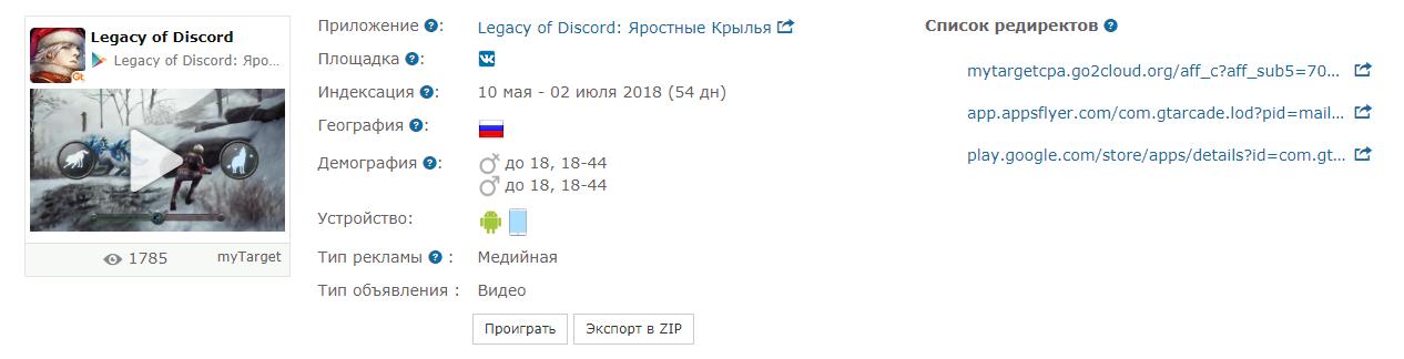 оффер Legacy of Discord партнерки