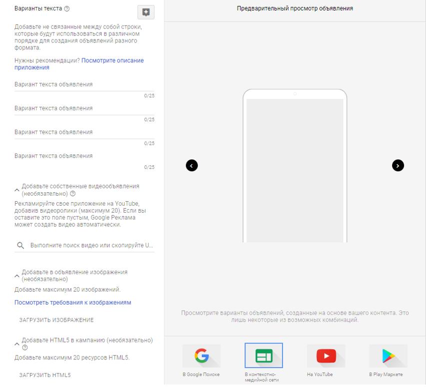 рекламные сети Google Ads