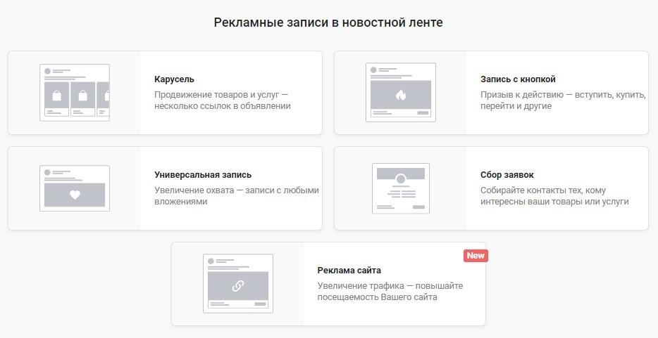 Таргетинг ВКонтакте: рекламные записи в новостной ленте