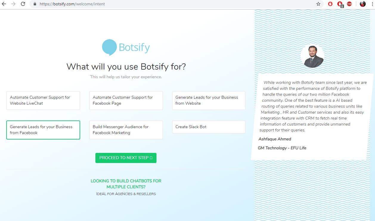Botsify чат-бот