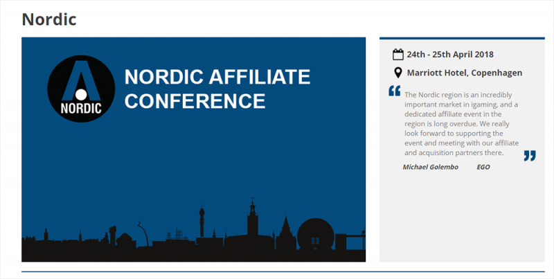 The Nordic Affiliate Conference 2018