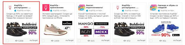 кейс e-commerce арбитраж трафика. Красным выделен самый удачный креатив как  по аналитике AMS ... f2e78eb1d42